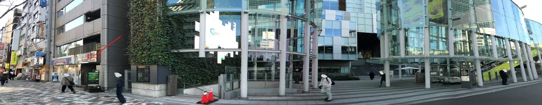 渋谷ストリーム方面出口C2からみた外観